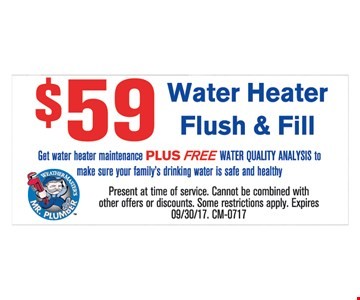$59 Water Heater Flush & Fill