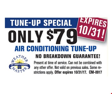 AC tune up for $79.