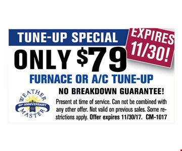 furnace or A/C tune-up for $79
