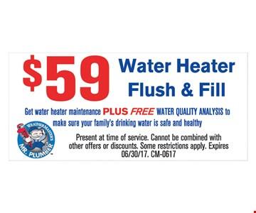 $59 Water Heater Flush & Fill