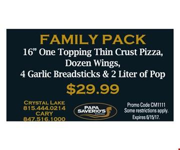 $29.99 family pack
