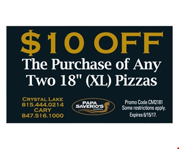 $10 off The Purchase of Any Two 18
