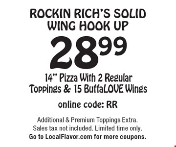 Rockin Rich's Solid Wing Hook Up. $28.99 14
