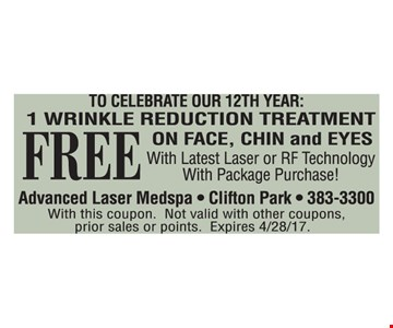 Free 1 Wrinkle Reduction Treatment