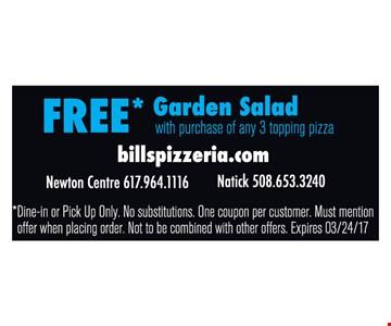 Free Garden Salad