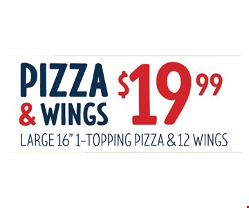 Pizza and wings for $19.99.