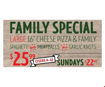 Family Special. Large 16