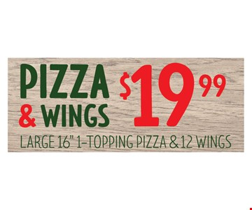 $19.99 Pizza & Wings