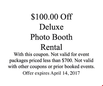 $100.00 Off Deluxe Booth Rental