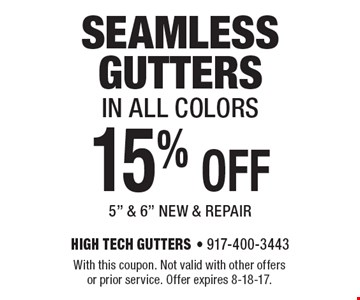 15% OFF seamless gutters in all colors 5