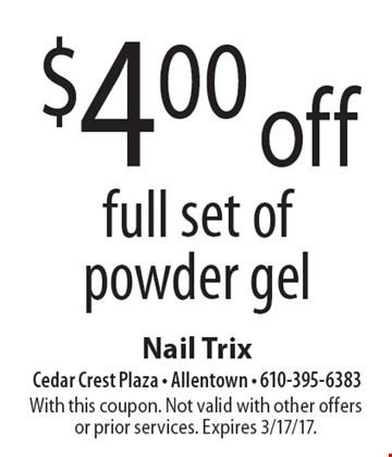 Nail trix coupons allentown pa
