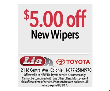 $5.00 off new wipers