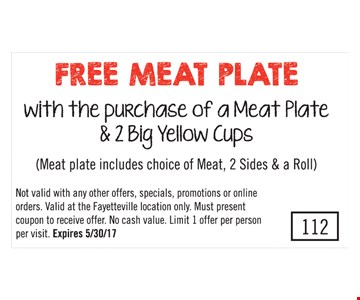 Free Meat Plate