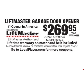 $269.95 LIFTMASTER GARAGE DOOR OPENER
