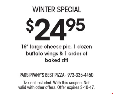 Winter special $24.95 16