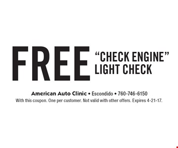 FREE check of