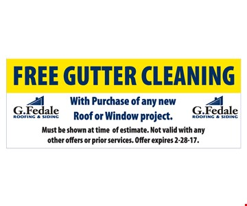 Free gutter cleaning