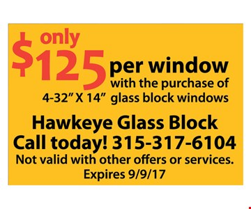 Only $125 per window