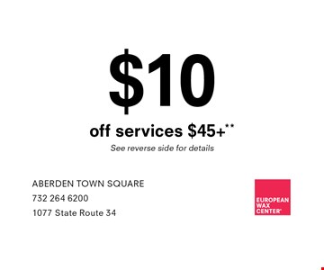 $10 off services +$45