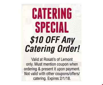 $10 Off Any Catering Order
