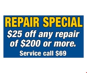 $25 Off Any Repair of $200 or More