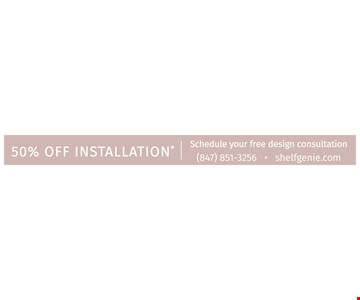 50% off installation