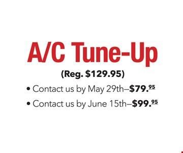 A/C tune-up