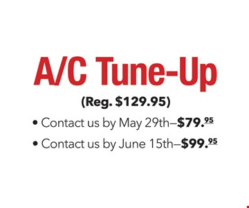 AC tune up for as low as $79.95.