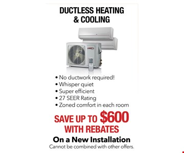 Save up to $600 with rebates on ductless heating & cooling
