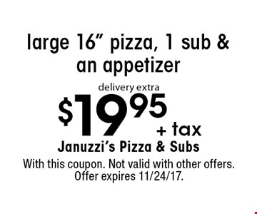 $19.95 +tax large 16