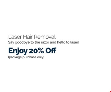 Laser hair removal 20% off
