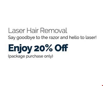 Laser Hair Removal Enjoy 20% Off