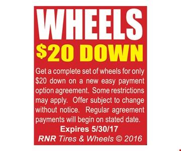 Wheels $20 down