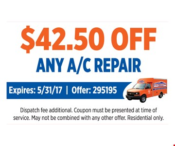 $42.50 Off Any A/C Repair