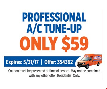 Professional A/C Tune-up Only $59