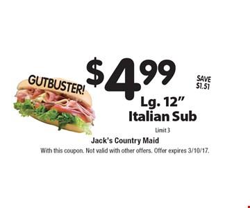 GUTBUSTER! $4.99 Lg. 12