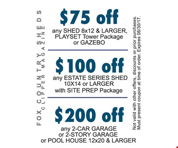 $75 off, $100 off, $200 off