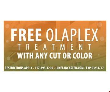 Free Olaplex Treatment