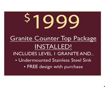 $1999 granite counter top package