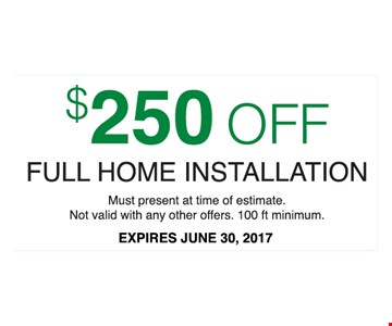 $250 Off Any Size Installation