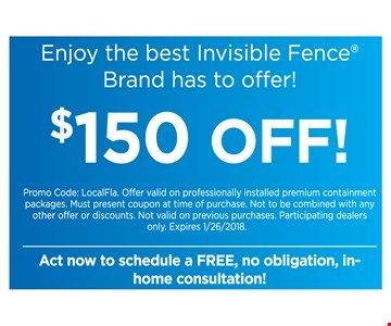 $150 off invisible fence