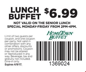 $6.99 lunch buffet