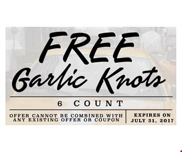 Free garlic knots