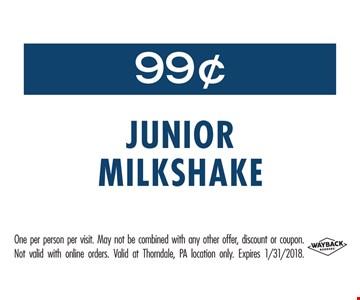 99¢ Junior Milkshake