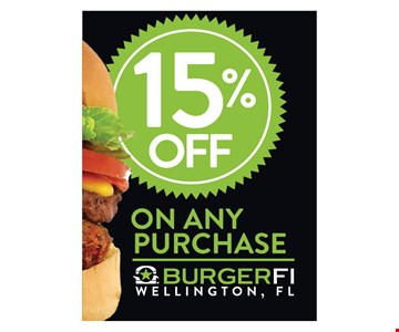 15% Off Any Purchase