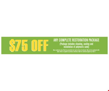 $75 off any complete restoration package
