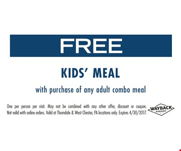 Free Kid's Meal