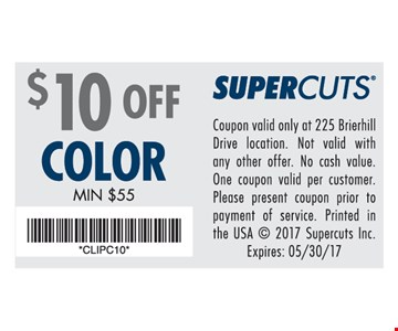 $10 Off Color