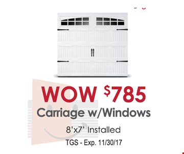 $785 Carriage w/Windows