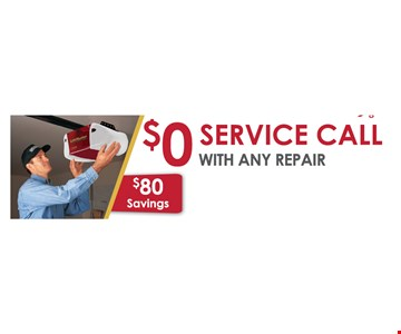 $0 Service Call with any repair
